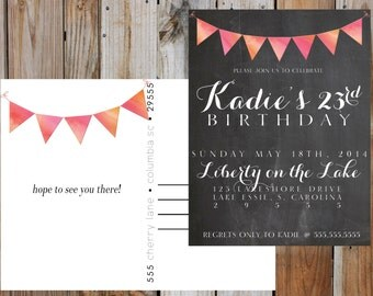 BIRTHDAY INVITATION Postcard - Digital - Customizable