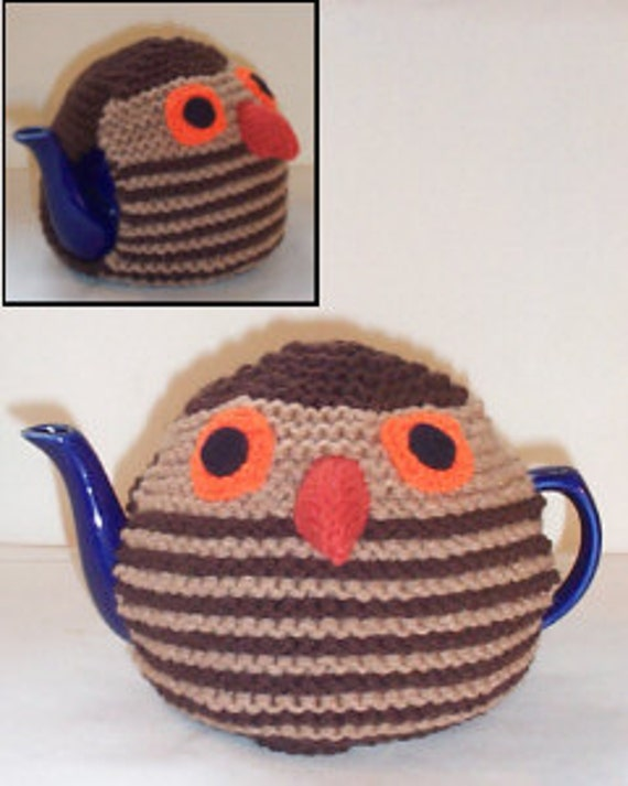 Novelty Tea Cosy Knitting Patterns : Earnest Owl Novelty Tea Cosy Knitting Pattern by TeaCosyFolk
