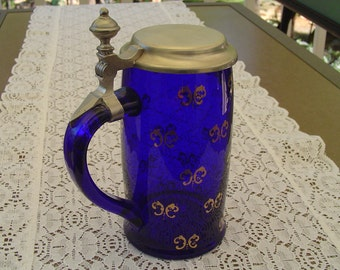 Popular Items For Cobalt Blue Stein On Etsy