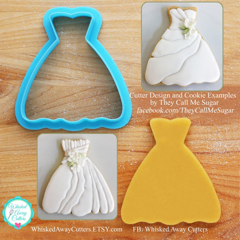 Susan 39 s wedding dress cookie cutter for Wedding dress cookie cutters