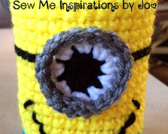 Character Cozy for your soda can. Comes in Sock Monkey or Minion