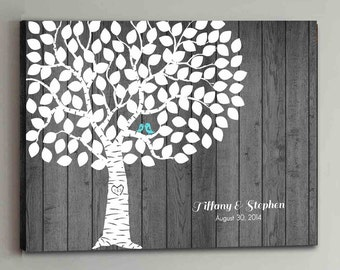 100 Guest CANVAS Wedding Guest Book Rustic Wood Wedding Tree Wedding Guestbook Canvas Alternative Guestbook Canvas Wedding Guestbook - Wood