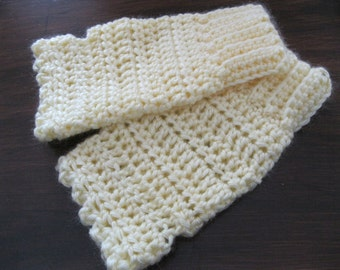 Yellow Fingerless Gloves