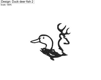 Popular items for duck deer fish on etsy for Deer duck fish