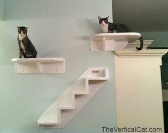 Wrap Around Corner Cat Shelf from The Vertical Cat