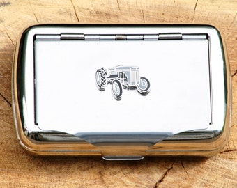 Grey Fergie Hand Rolling Tobacco Cigarette Tin Tractor Gift
