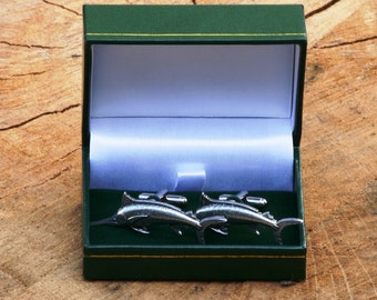 Marlin Cufflinks Pewter UK Handmade Game Fishing Gift