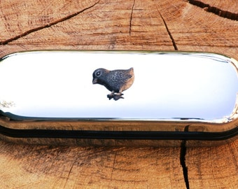 Chicken Metal Pen Case & Ball Point Set Personalised Engraved Gift