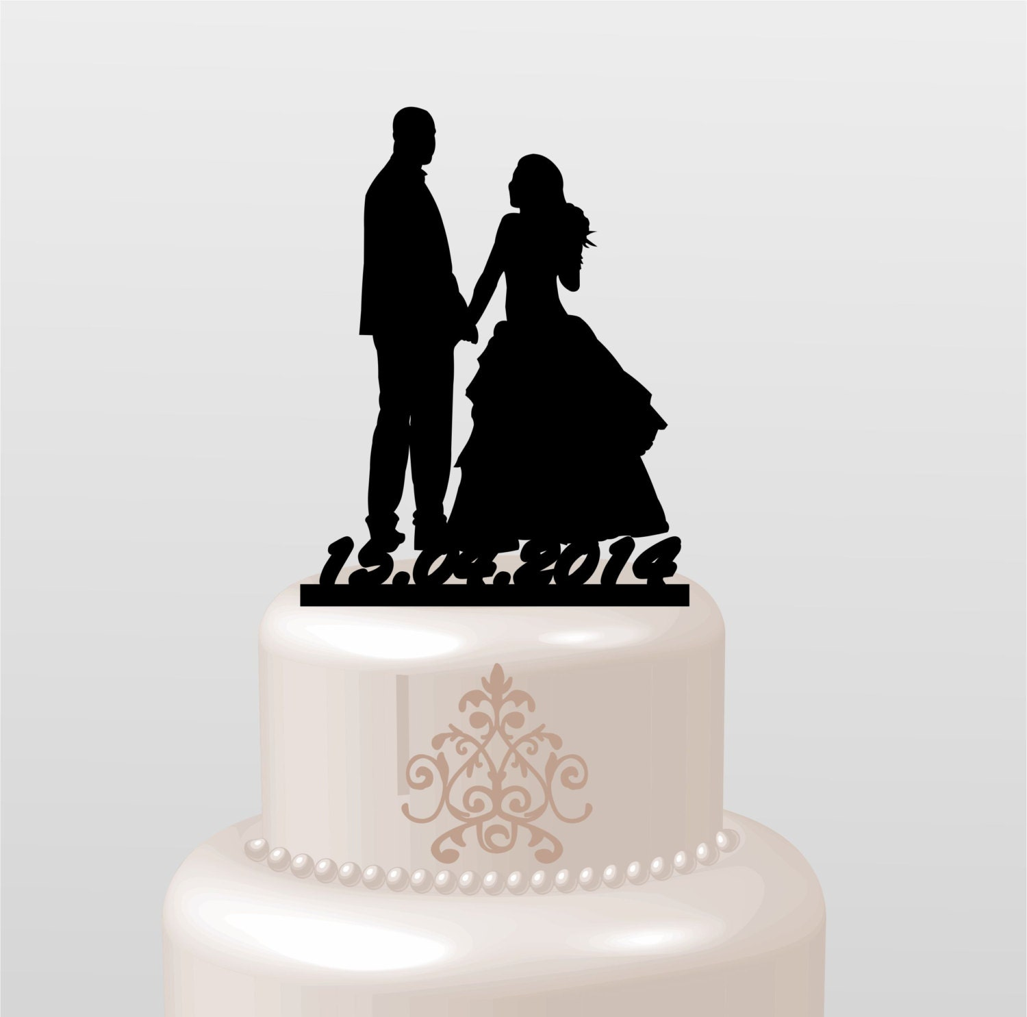 Wedding Cake Topper Silhouette Groom and by