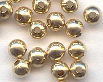 10 8mm goldfilled beads - large hole - jewelry - gold - 18K - goldfilled