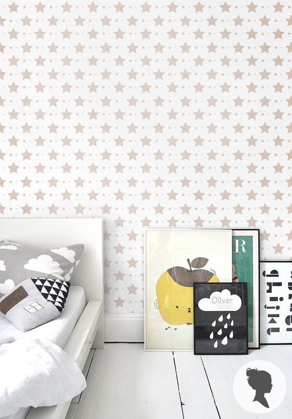 star pattern self adhesive removable wallpaper d004 by livettes. Black Bedroom Furniture Sets. Home Design Ideas