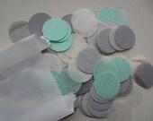 Dot Tissue Paper Confetti grey-mint