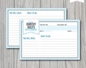 PERSONALIZED Printable RECIPE CARDS 4x6, Customizable Names & Colors