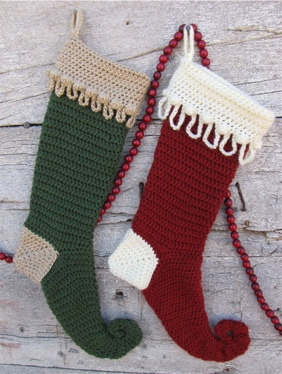 Christmas Stocking. Digital crochet pattern.
