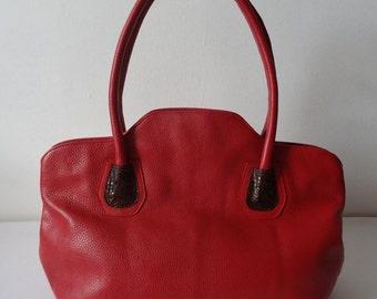 Shape Tote Bag ( Pebble Leather )