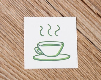 Afternoon Tea tattoo sticker by Vicky Wang
