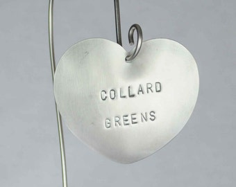 Collard Greens -  Vegetable Garden Marker, Stainless Steel.