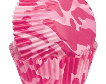 Pink Camo Wilton Standard Cupcake Liners Baking Cups Muffin Cups - Pink Cupcake Liners - Camo Cupcake Liners