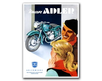 Retro Motorcycle Art Biker Sports Poster Home Decor Vintage Print (H248)