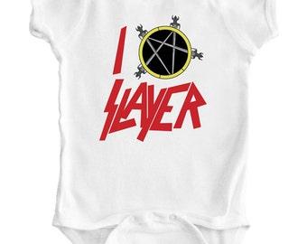 SLAYER - Baby Romper / Creeper / Bodysuit / Vest / One piece / Rock / Metal