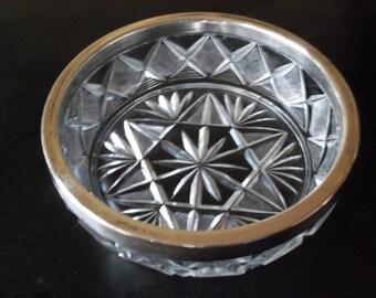 Vintage Hefra Crystal Cut Glass Bowl