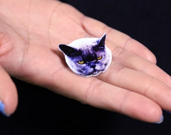 Angry Cat Brooch