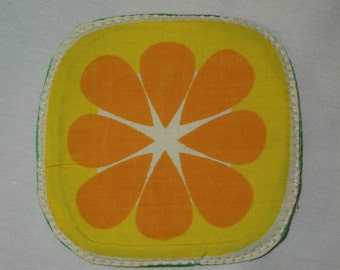 Lemon coaster,lemon potholder, fruits coaster, fruits potholder,fruit coaster,fruit potholder, quilted coaster,quilted potholder