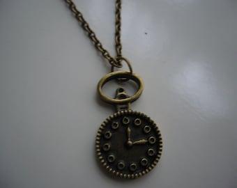 Pocket Watch Necklace - Antique Bronze Pocket Watch Necklace - Pocket watch Pendant Charm Necklace - Miniature Pocket Watch- Nickel Free
