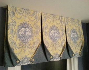 Custom Window Treatments- TUXEDO VALANCE-made to order (your fabric,my lining)