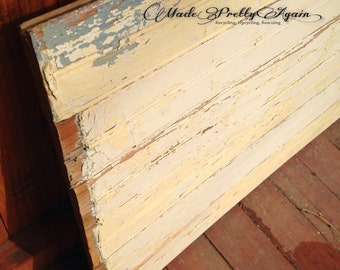 Blank Wood Sign - Reclaimed Wyoming Homestead Beadboard | Original Chippy Paint | Lead-Free