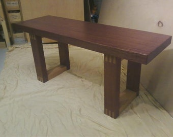 African Mahogany/White Oak indoor Bench