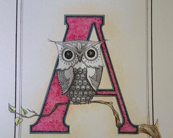 A is for owl