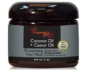 Coconut Oil + Castor Oil Hair Mask ~ Essential Oils for Hair Growth ~ 100% Natural