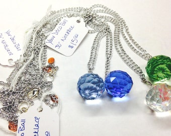 """Your Disco Ball in Crystal Clear 30"""" Necklace"""