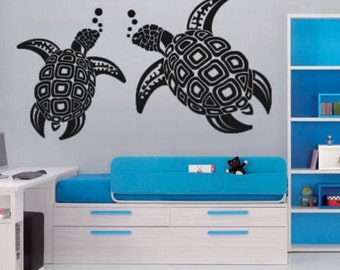 Turtle Couple Wall Decal