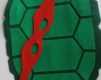 TMNT inspired turtle shell, great for birthday parties. fun for dramatic play.