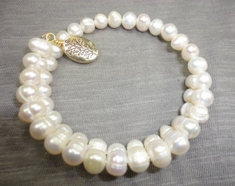 Fresh Water Pearl Wrap Bangle