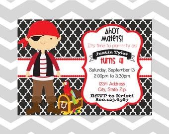 Pirate Birthday Party Invitation/Card