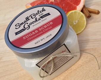 16 oz Cinnamon Citrus Sugar Scrub with Coconut Oil