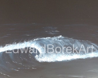 Breaking Wave on Beach at Night