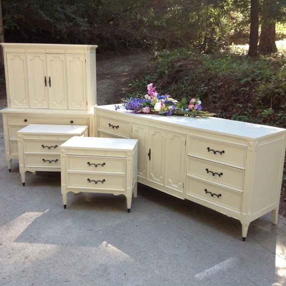 Items similar to sold vintage 1960 39 s neo classical for Vintage american martinsville bedroom furniture