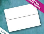 Recently Reduced! A2 Size White Envelopes | Pack of 50 High Quality Envelopes