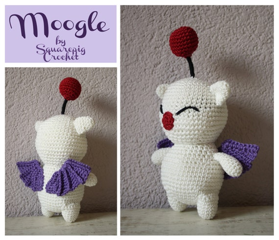 Moogle crochet pattern. This cute Moogle from FF14 is not hard to make ...