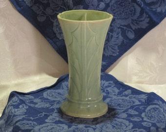 Tall green Holly Vase