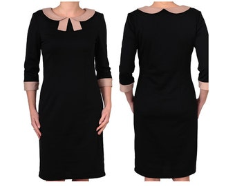 Black Dress available in Plus Size 38 40 42 44 46 48 50 52 in Plus Size Ag2