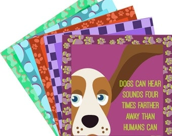 Dog & Cat Facts Pack A - 12 Lunchbox Lunch Box Notes PRINTABLE INSTANT DOWNLOAD