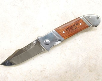 Engraved SOG Fielder Mini - Personalized for: Weddings, Graduations, & Gifts