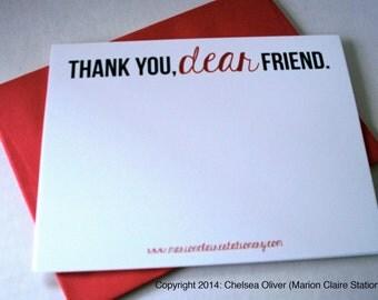 Thank You Notecards - Dear Friend