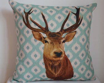 Decorative pillow cover, Cotton Linen deer head pillow cover, cartoon pillow covers
