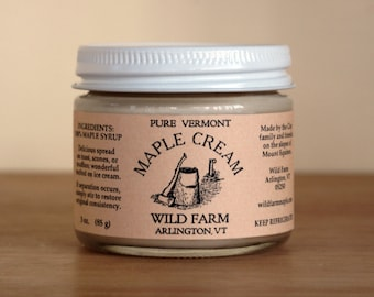 Wild Farm Maple Cream, 3oz